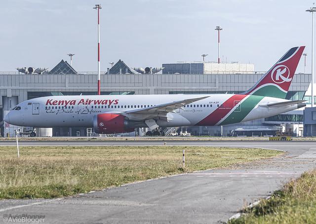 5Y-KZF Kenya Airways Boeing 787-8 Dreamliner