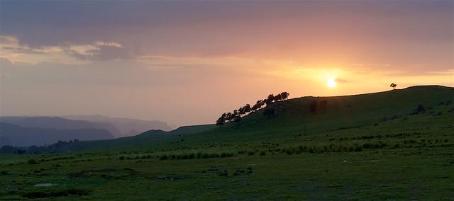 Sunset over Simien Mountains (Samen tarara), Ethiopia