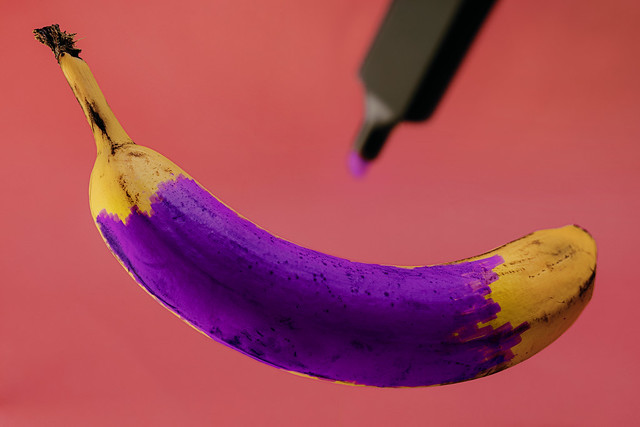 Something purple? Let's see...
