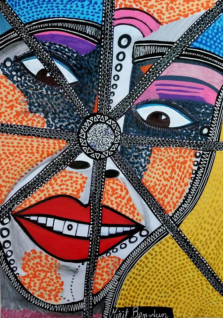 יצירה ישראלית מקורית מירית בן נון ציירת מודרנית פופ ארט עכשווית