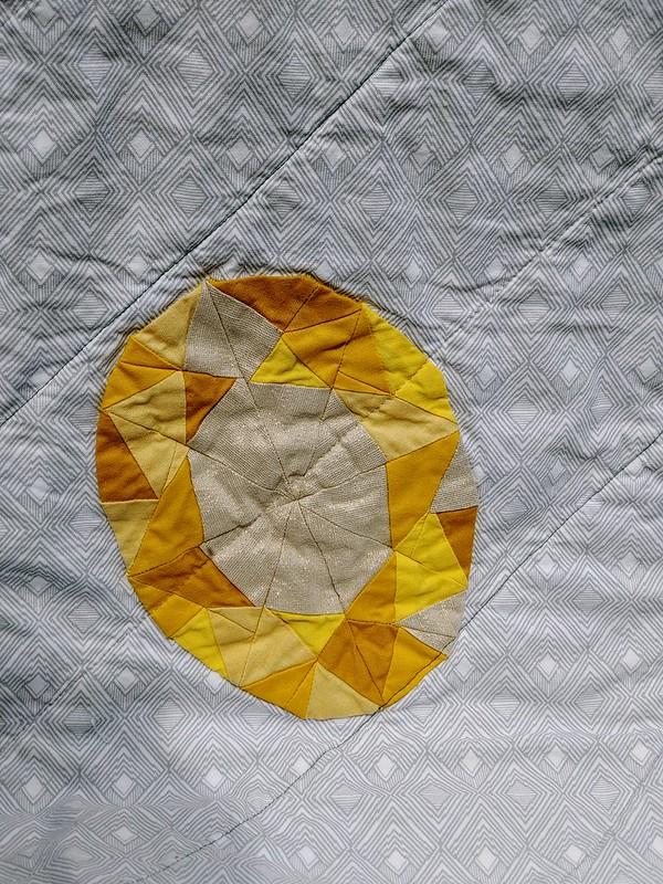 Gemstone Applique Quilt Close-up
