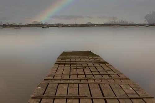 Long Pier After Rain Fall