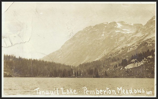 c. 1921 Barry Girling Postcard (#107) - View of Tanquil (Tenquille) Lake, Pemberton Meadows, British Columbia