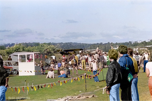 Hastings airshow, 1980, in colour.