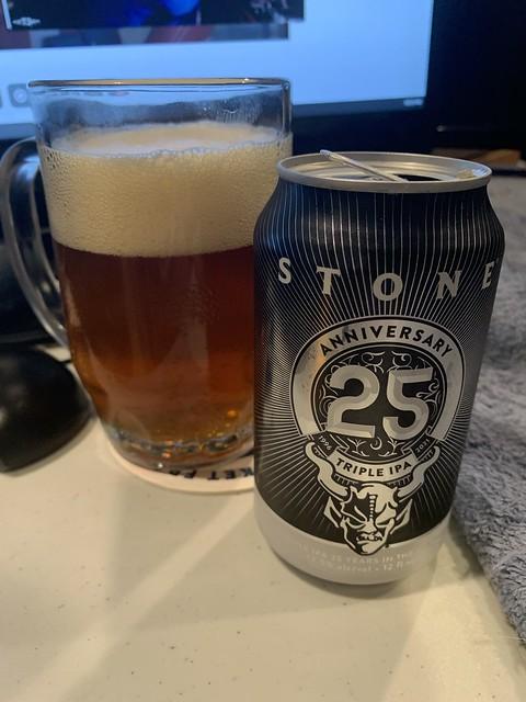 Stone Brewing 25th Anniversary Triple IPA