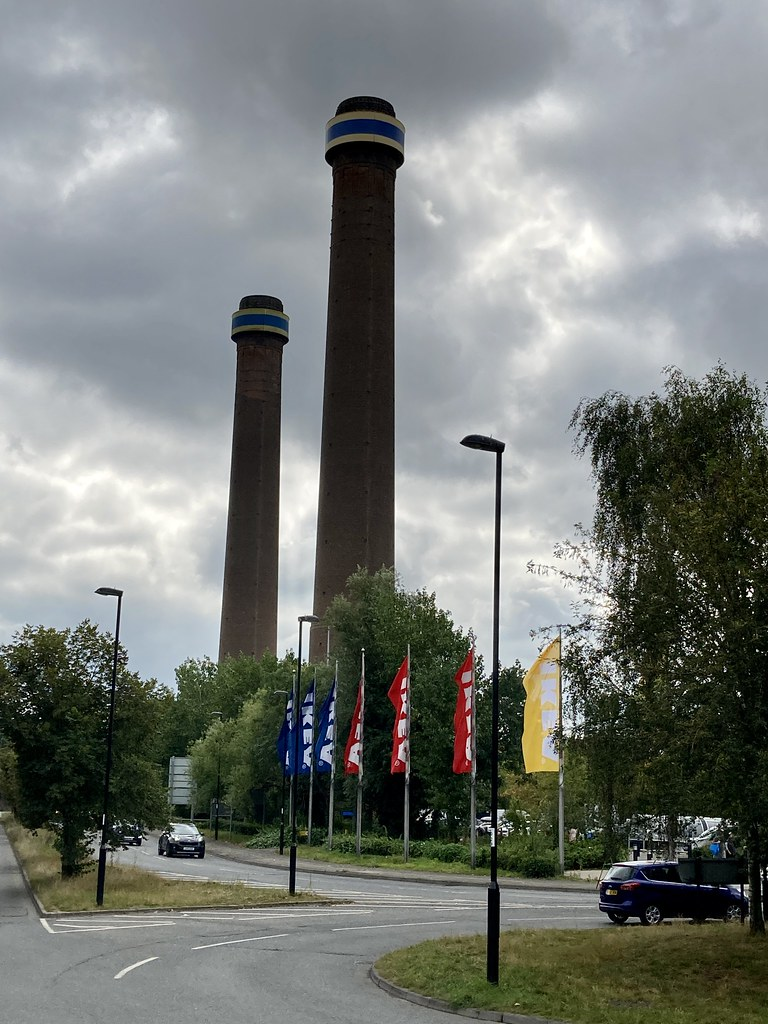 Chimneys from Croydon B Power Station