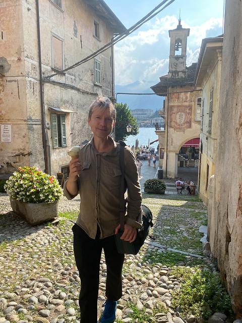 Josh with a gelato in Orta San Giulio
