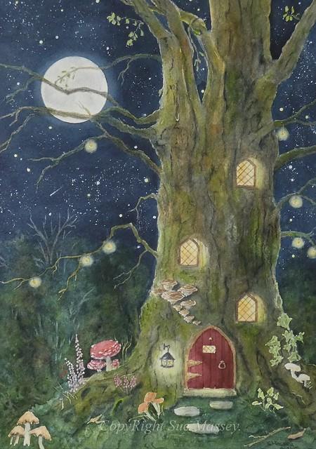 The Illuminated Fairy Tree House