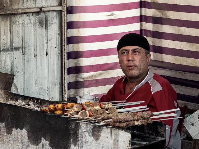 Kebab seller in Bishkek