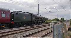 Stanier Jubilee 45596 'BAHAMAS' on 5Z96, Conington North, August 15th 2021 e