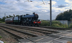 Stanier Jubilee 45596 'BAHAMAS' on 5Z96, Conington North, August 15th 2021 a