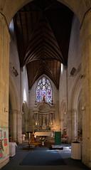 Vue de l'autel de l'église Saint-Martin