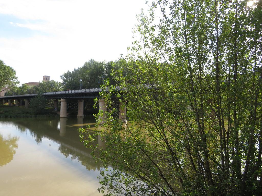 The Iron Bridge  ,across the River  Ebro, Logroño, La Rioja, Spain