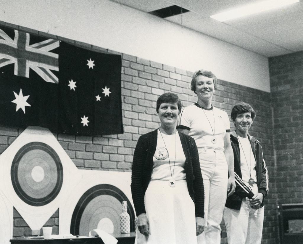 Moorabbin Archery Club 1980's Lyn Matushka , Chris McMullen & Marilyn Rumley 331