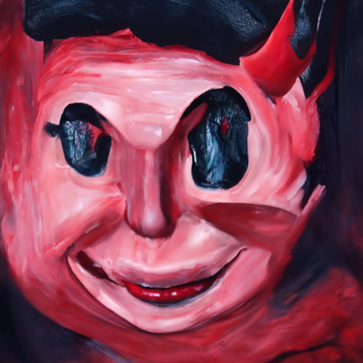 'an oil on canvas painting of satan' CLIP Guided Diffusion v6 Text-to-Image
