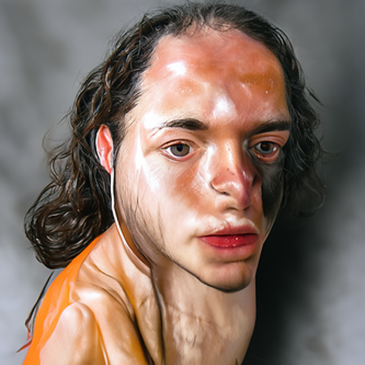 'a hyperrealistic painting of a human' CLIP Guided Diffusion v6 Text-to-Image