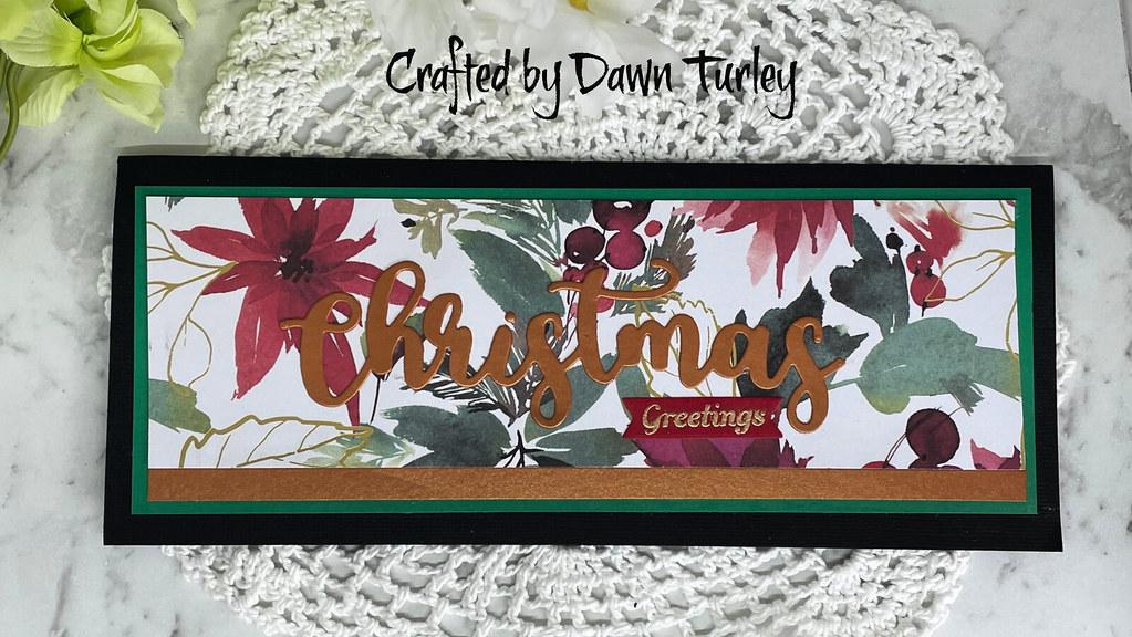 Slimline Christmas card #1