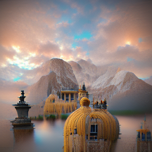 'a palace by Jules Joseph Lefebvre' MSE Regulized Modified Text-to-Image