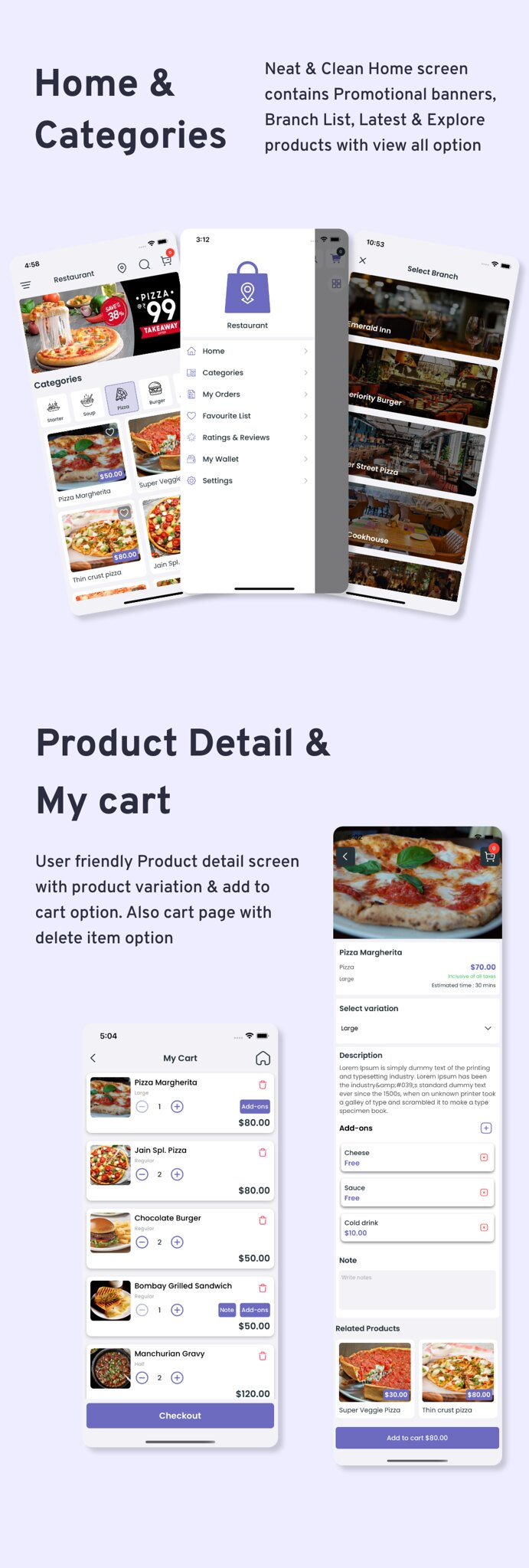 Multi-Branch Restaurant - iOS User + Delivery Boy + Vendor Apps With Laravel Admin Panel - 8