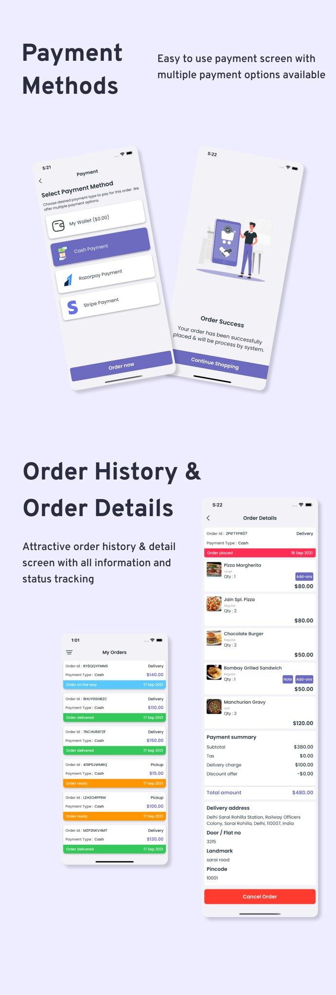 Multi-Branch Restaurant - iOS User + Delivery Boy + Vendor Apps With Laravel Admin Panel - 10