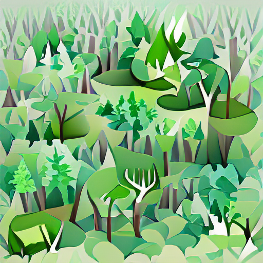 'vector art of a forest clearing' Pixray Text-to-Image