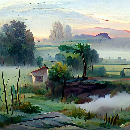 'a morning landscape' Pixray Text-to-Image