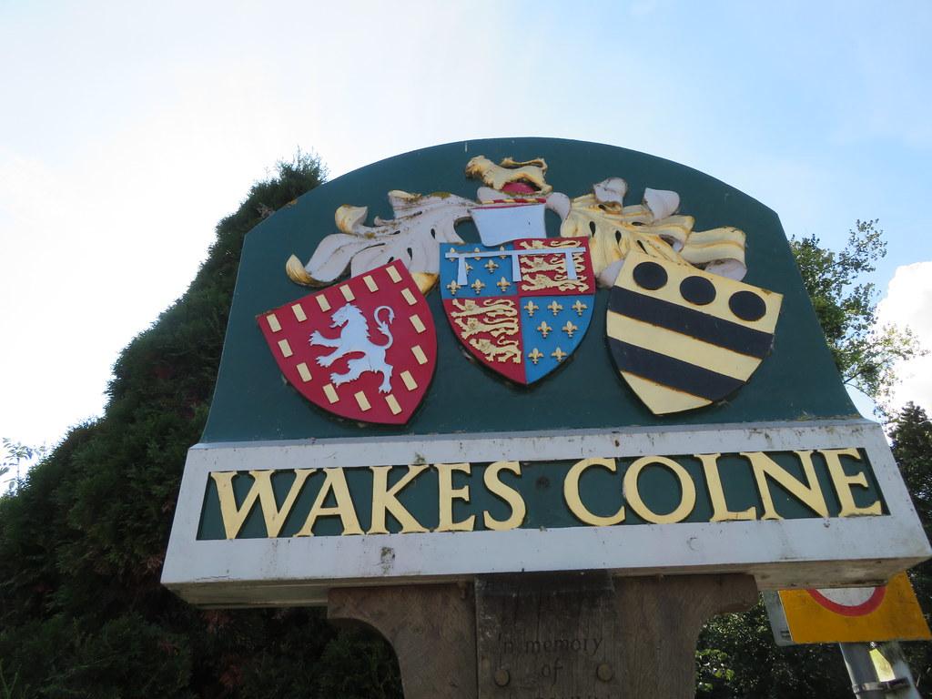 UK - Essex - Wakes Colne - Village sign