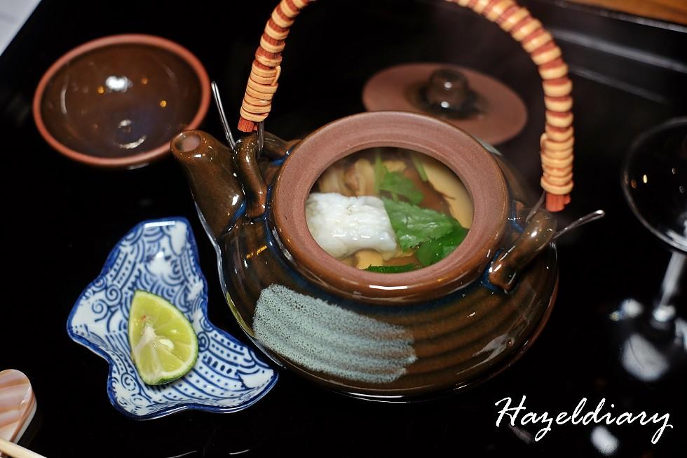 SAKEMARU Artisan Sake- Matsutake Mushroom and Pike Cougar Steamed