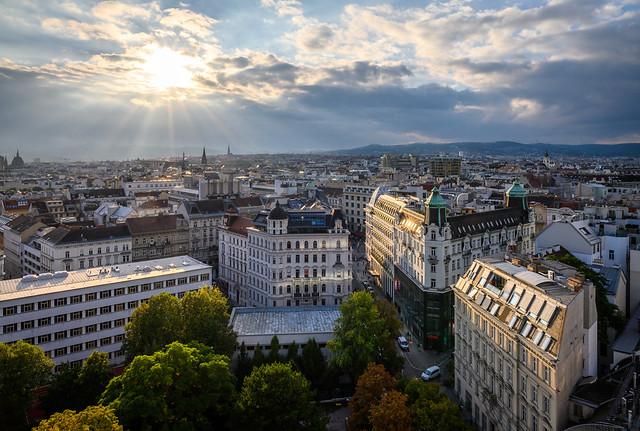 Vienna on a cloudy day