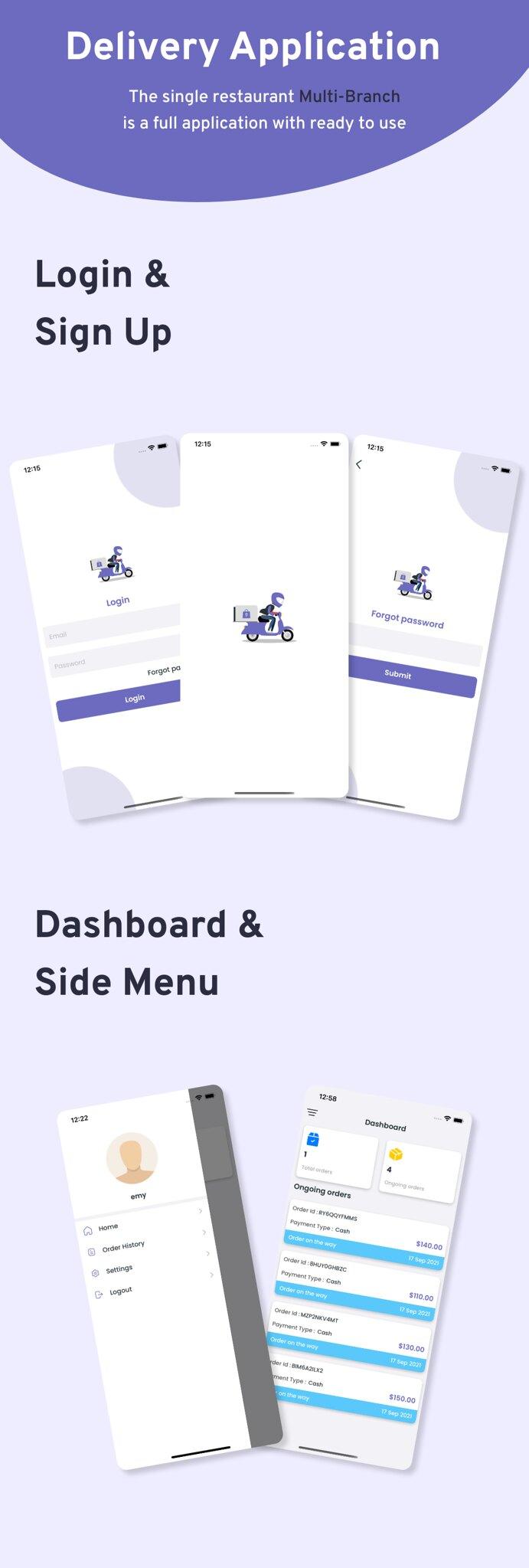 Multi-Branch Restaurant - iOS User + Delivery Boy + Vendor Apps With Laravel Admin Panel - 13