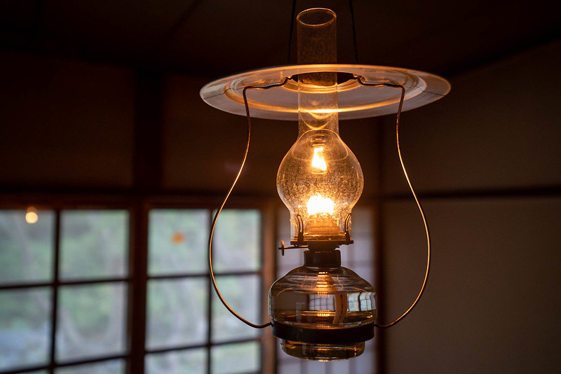 青荷温泉のランプ