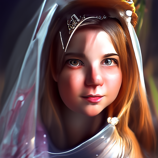 'princess in sanctuary trending on artstation photorealistic portrait of a young princess' CLIP Guided Diffusion v6 Text-to-Image
