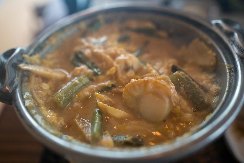 青荷温泉の朝食味噌煮