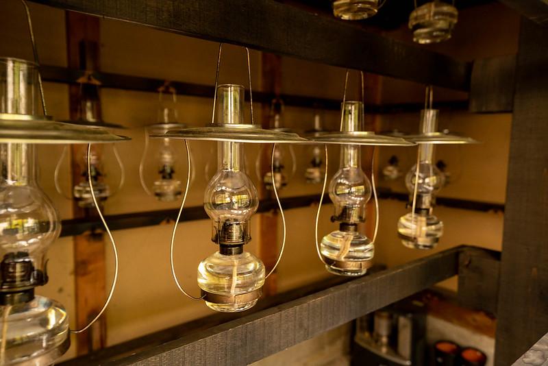 青荷温泉のランプたち