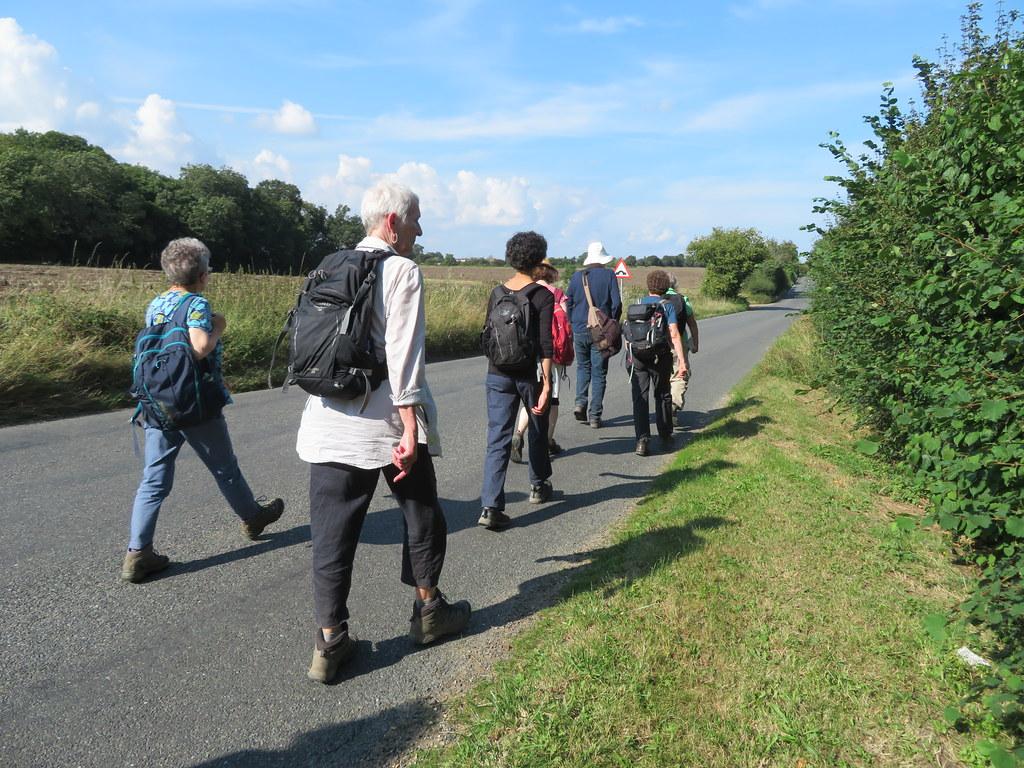 UK - Essex - Near Wakes Colne - Walking along road