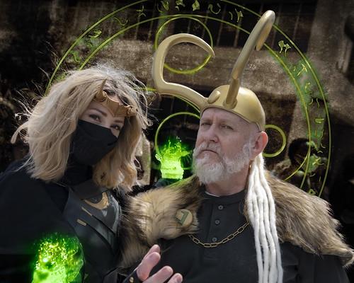 Sophie and Old Man Loki
