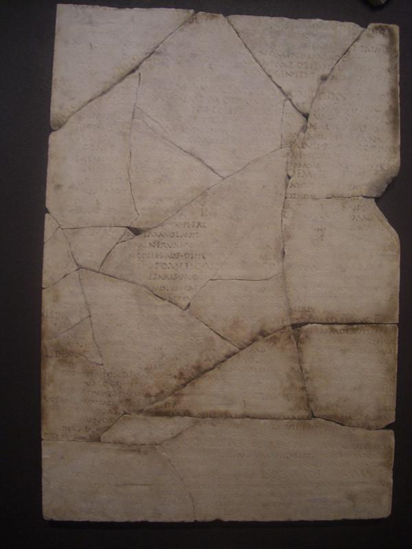Fragment of the Acta Fratrum Arvalium