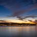 Dusk over lake Zürich