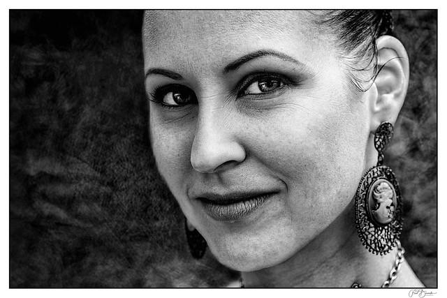 Woman wirh earring
