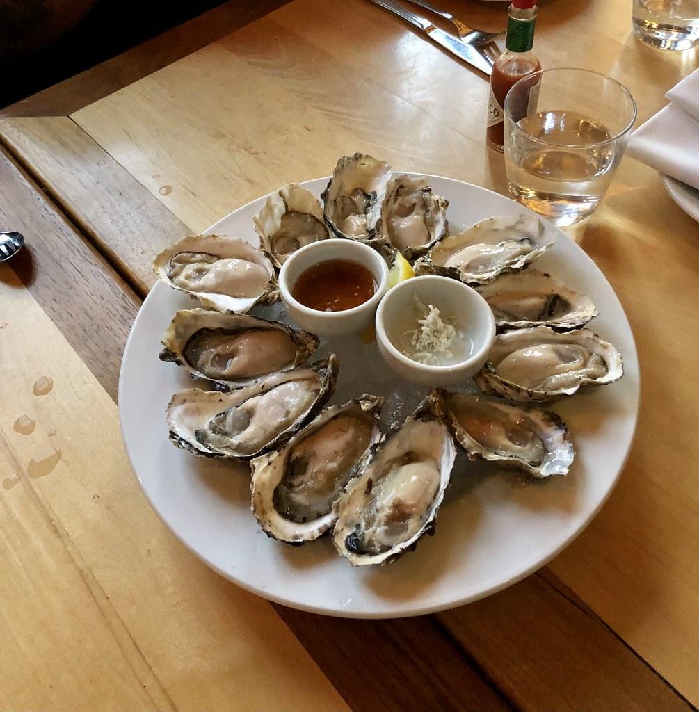 Fresh oysters at Ferris
