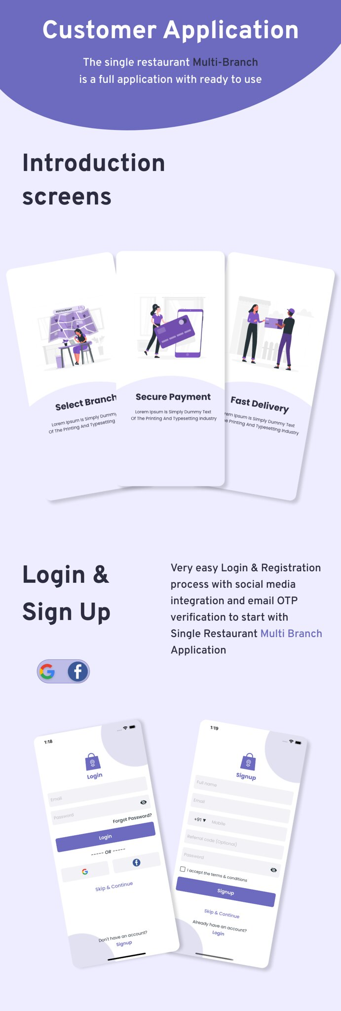 Multi-Branch Restaurant - iOS User + Delivery Boy + Vendor Apps With Laravel Admin Panel - 7