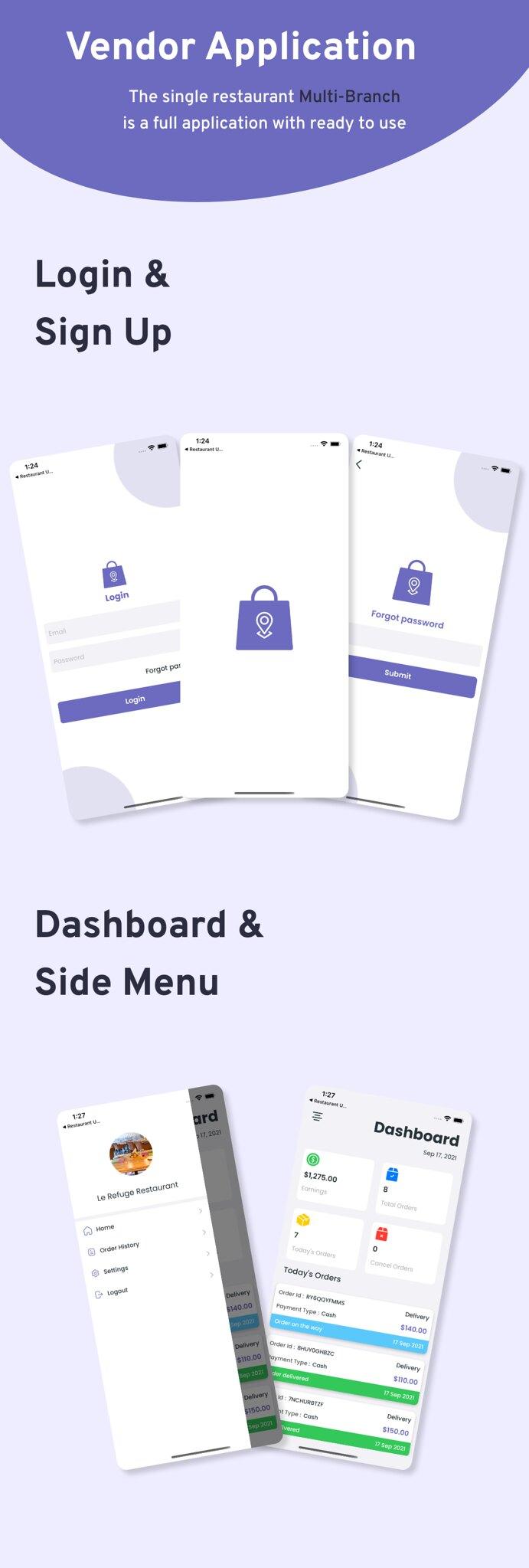 Multi-Branch Restaurant - iOS User + Delivery Boy + Vendor Apps With Laravel Admin Panel - 16