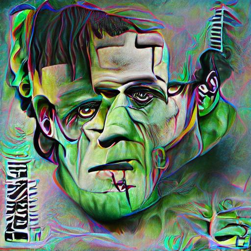 'Frankenstein' Pixray Text-to-Image