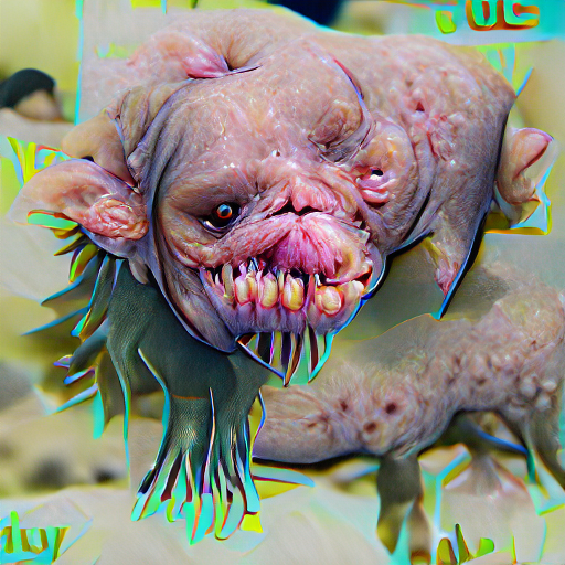 'an ugly creature' Pixray Text-to-Image