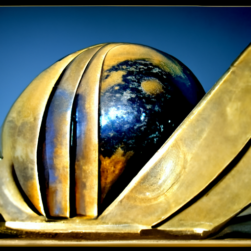 'an art deco sculpture of a planet' CLIP Guided Diffusion v6 Text-to-Image
