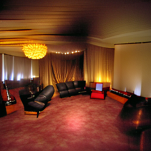 'a lounge room' MSE Regulized Modified Text-to-Image