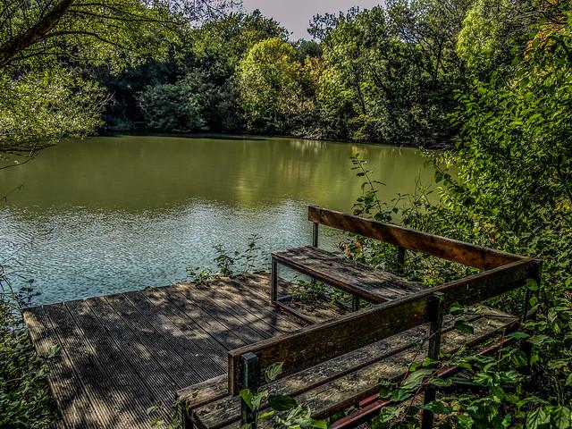 Seats near the water.