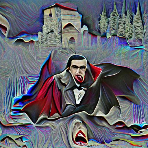 'Dracula' Pixray Text-to-Image