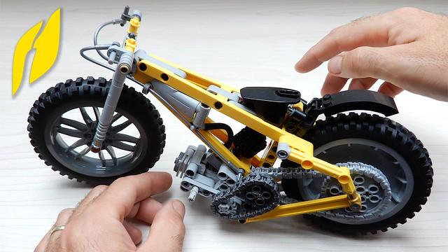 How to Build Lego Technic Speedway Bike (MOC - 4K)
