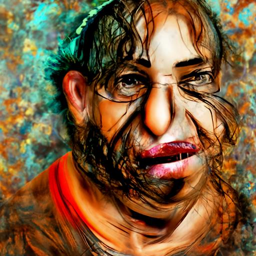 'digital art of an ugly person by Avigdor Arikha' CLIP Guided Diffusion v6 Text-to-Image